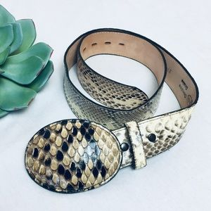 Authentic snake belt, Justin